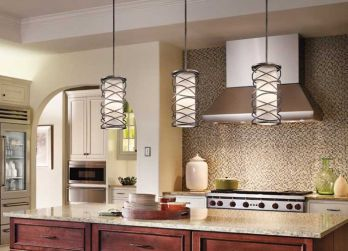 Style your kitchen with pendant lighting my cms we see it all the time builder grade kitchens with bland uninspiring pendant lights hanging predictably over the island set your kitchen island lighting aloadofball Image collections